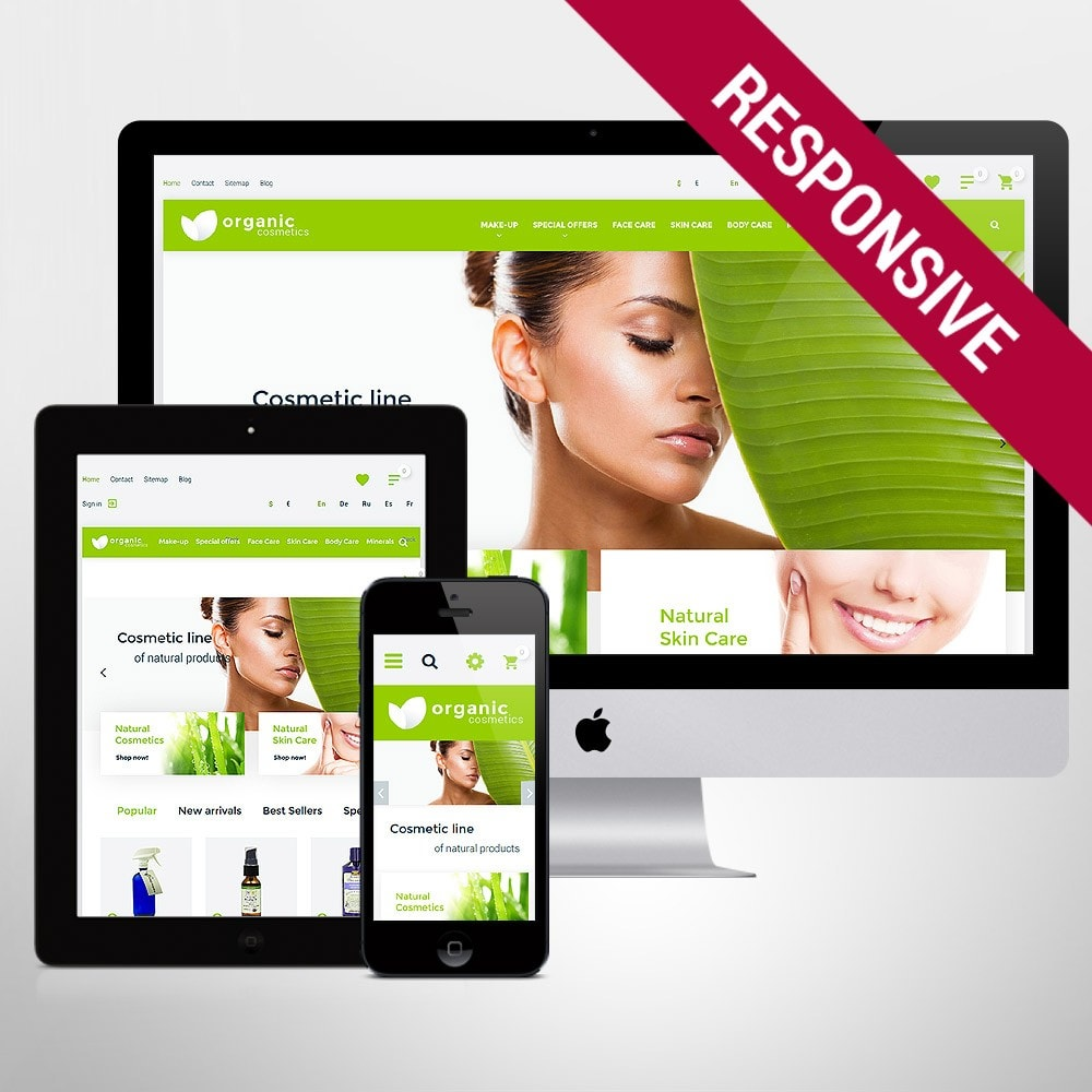 theme - Мода и обувь - Organic cosmetics - responsive - 1