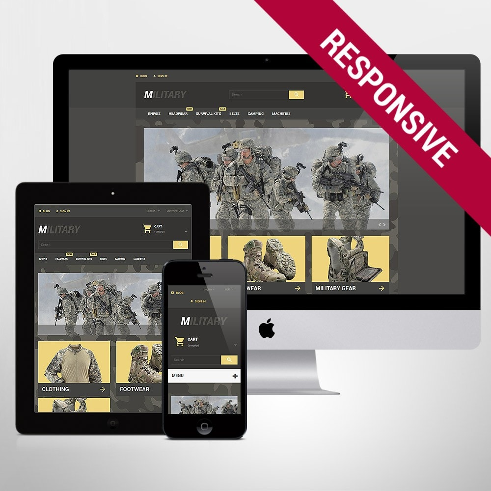 theme - Thèmes PrestaShop - Military - 1