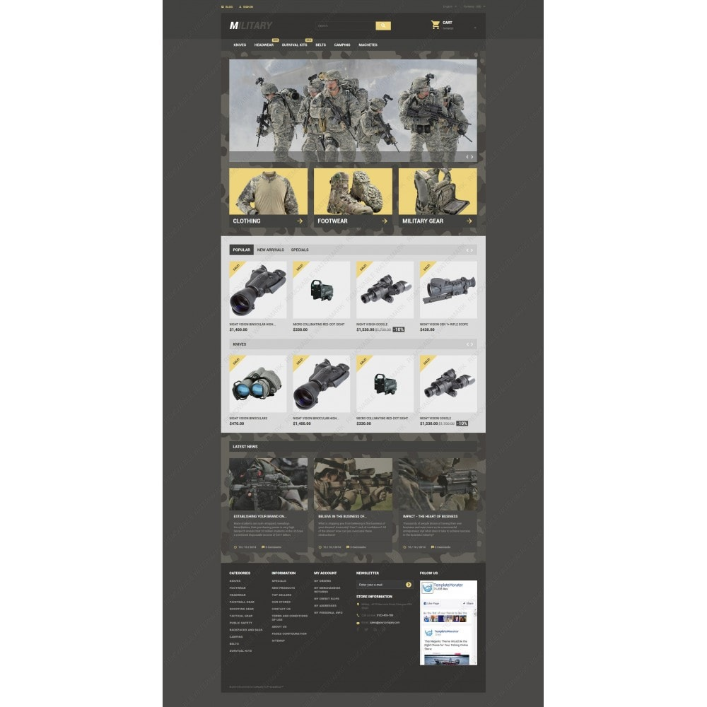 theme - Thèmes PrestaShop - Military - 3
