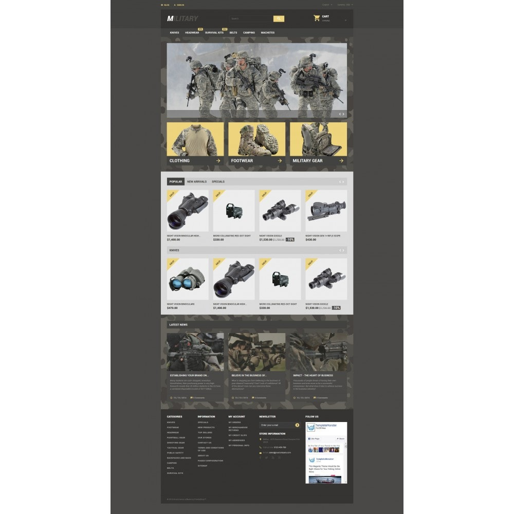 theme - Thèmes PrestaShop - Military - 4