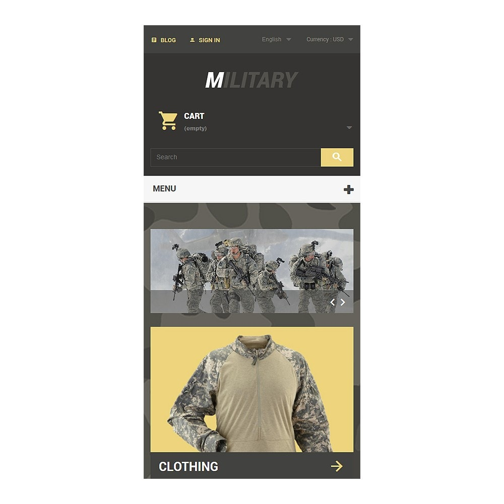 theme - Thèmes PrestaShop - Military - 8