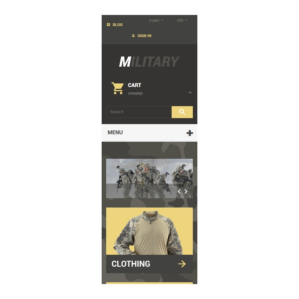 theme - Thèmes PrestaShop - Military - 9
