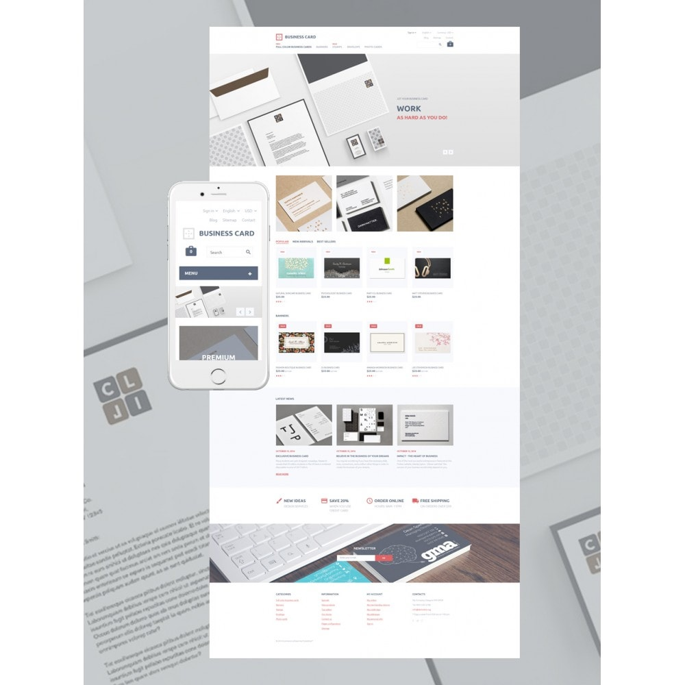 theme - PrestaShop Templates - Business Card - 2
