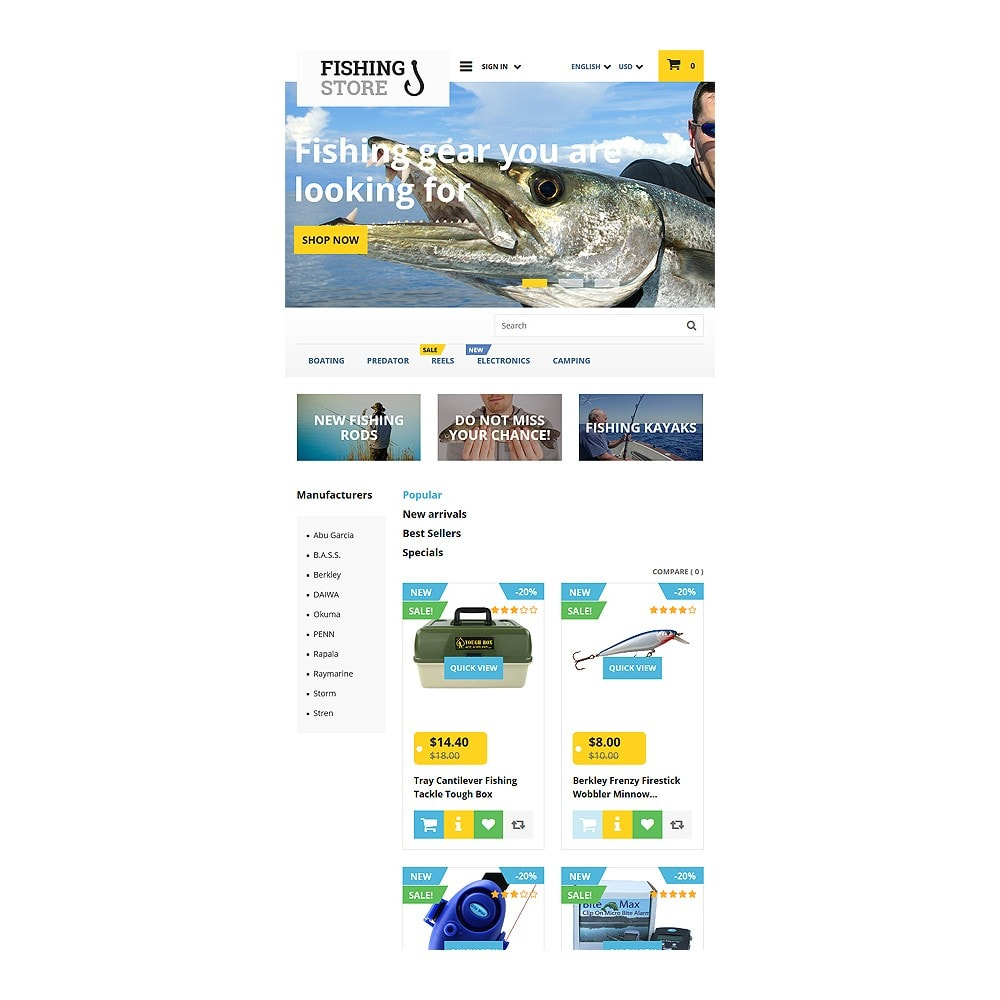 theme - Sport, Loisirs & Voyage - Fishing Store - 7