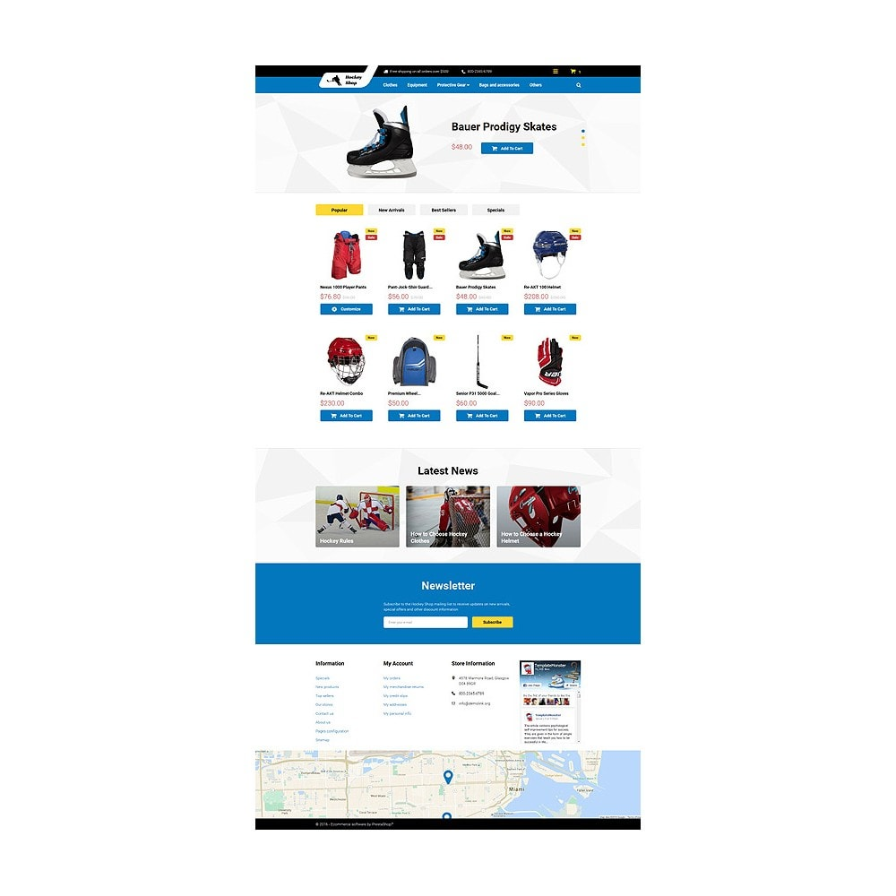 theme - Sports, Activities & Travel - Hockey Shop - 10
