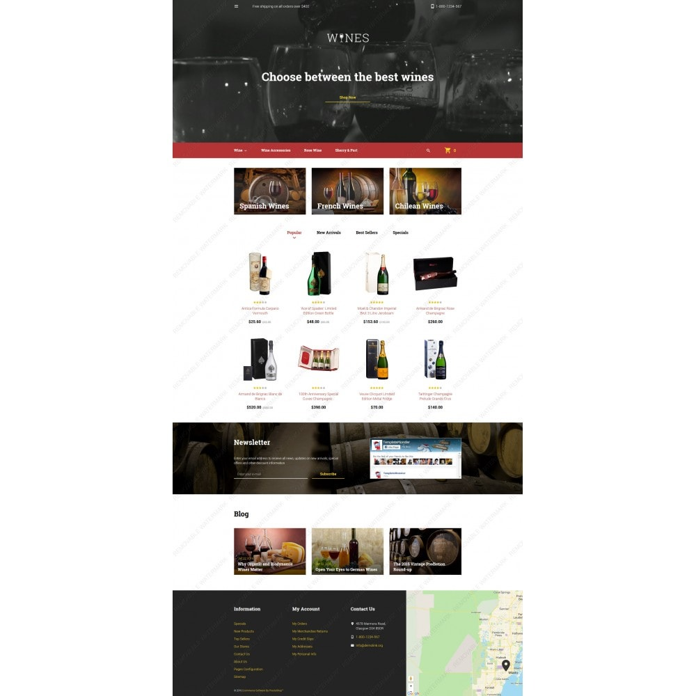 theme - Продовольствие и рестораны - Wines - Wine Template - 3