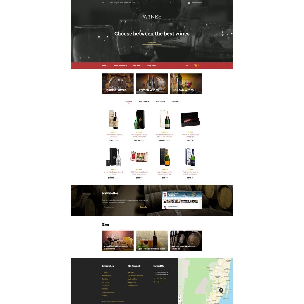 theme - Продовольствие и рестораны - Wines - Wine Template - 4