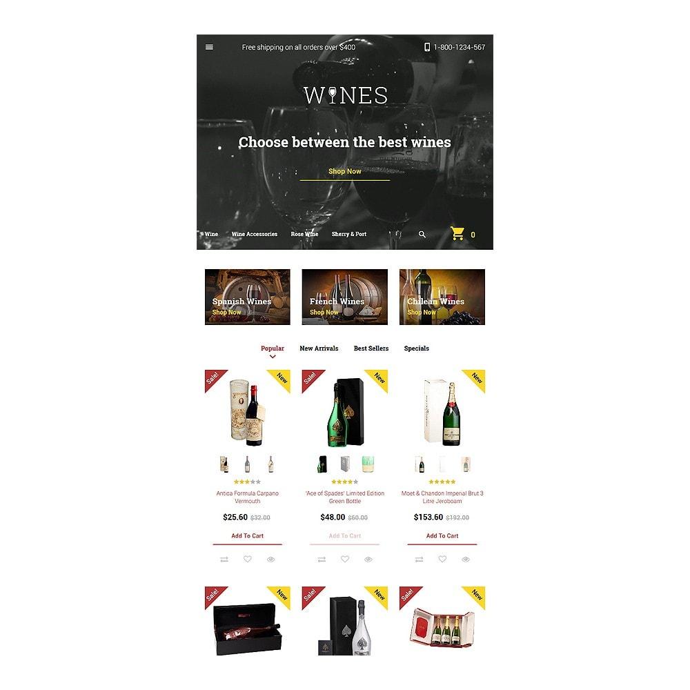 theme - Продовольствие и рестораны - Wines - Wine Template - 7