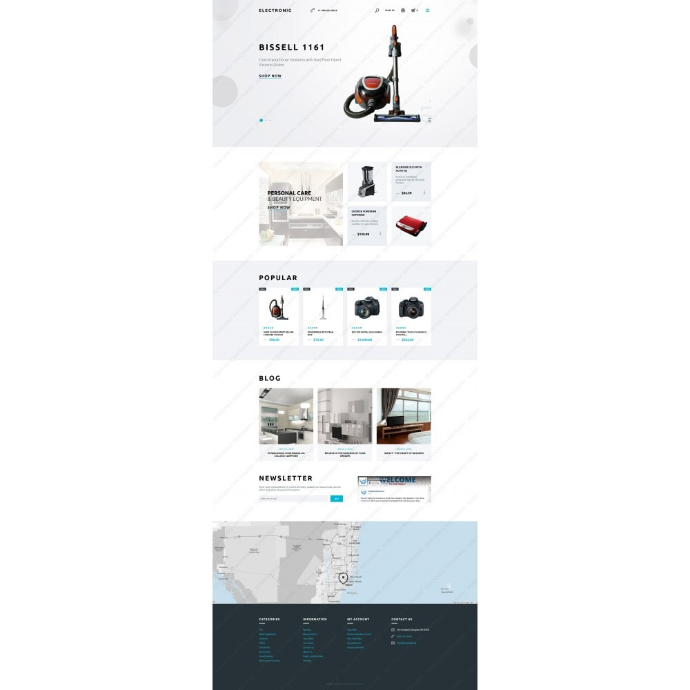 White Electronics Store PrestaShop Theme by ArtVertex