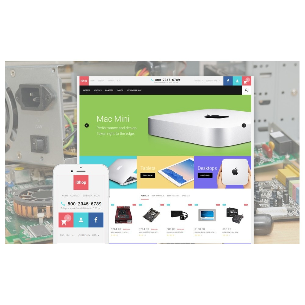 theme - Electronique & High Tech - iShop - White Computer Store - 2