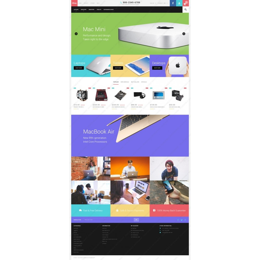 White Computer Store PrestaShop Theme by ArtVertex