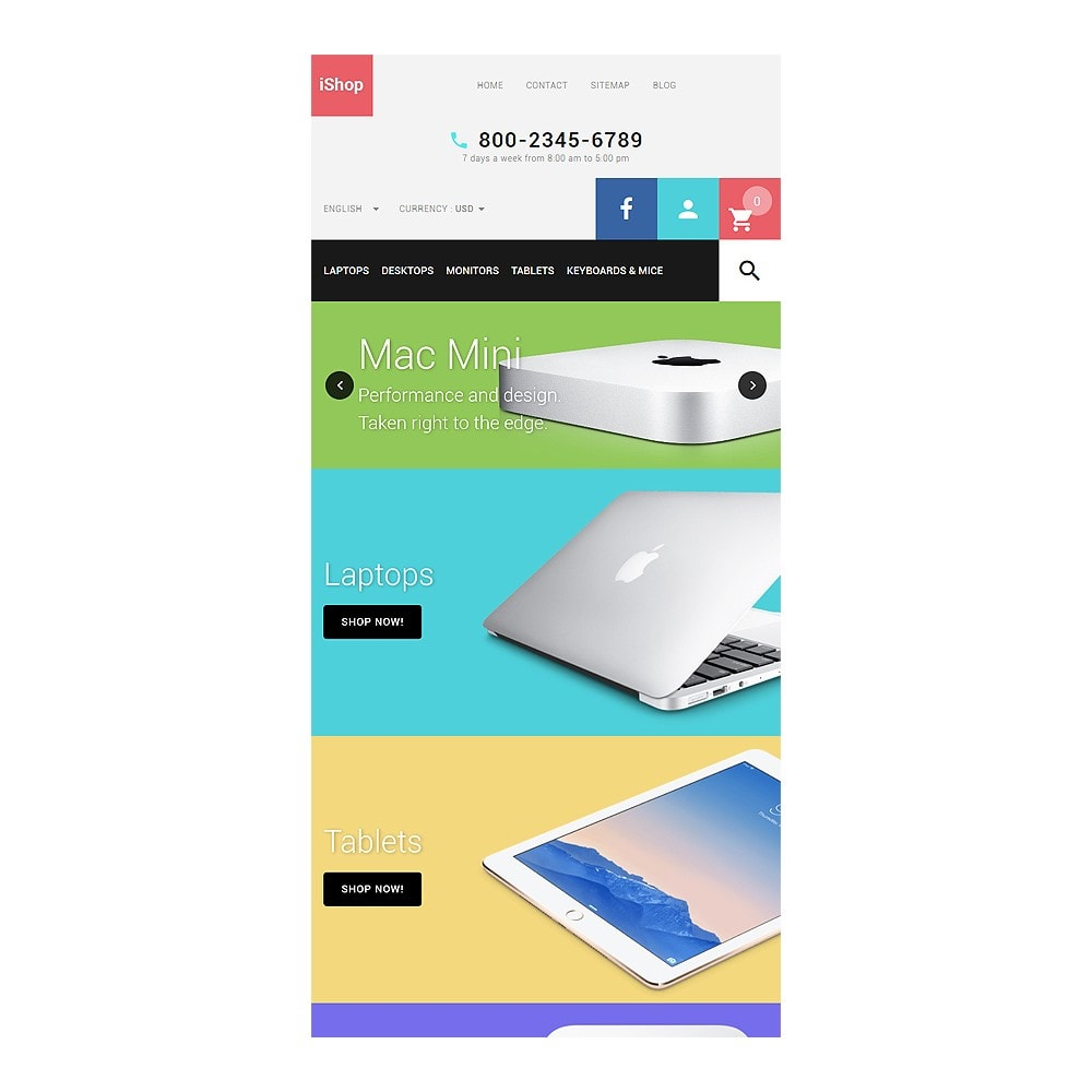 theme - Электроника и компьютеры - White Computer Store PrestaShop Theme by ArtVertex - 7