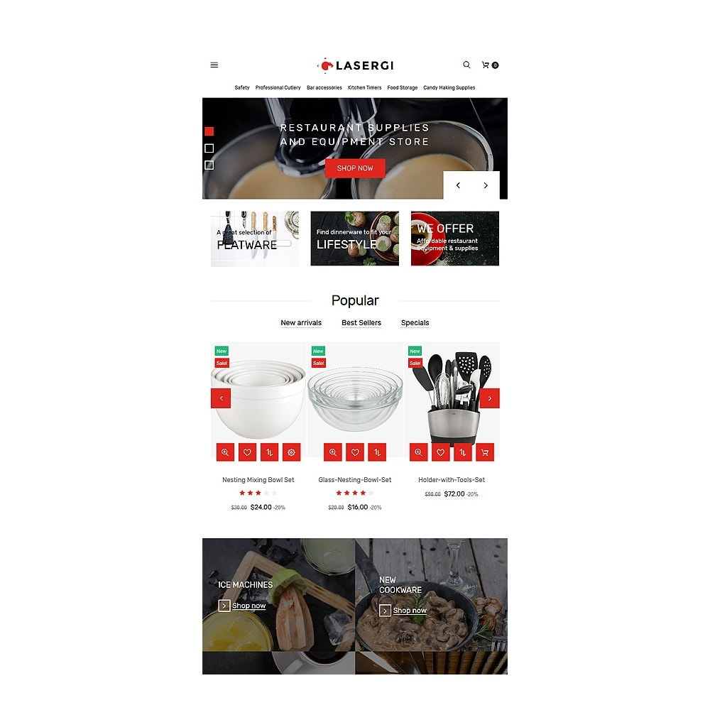 theme - Food & Restaurant - Glasergi - Cookware & Appliances - 7