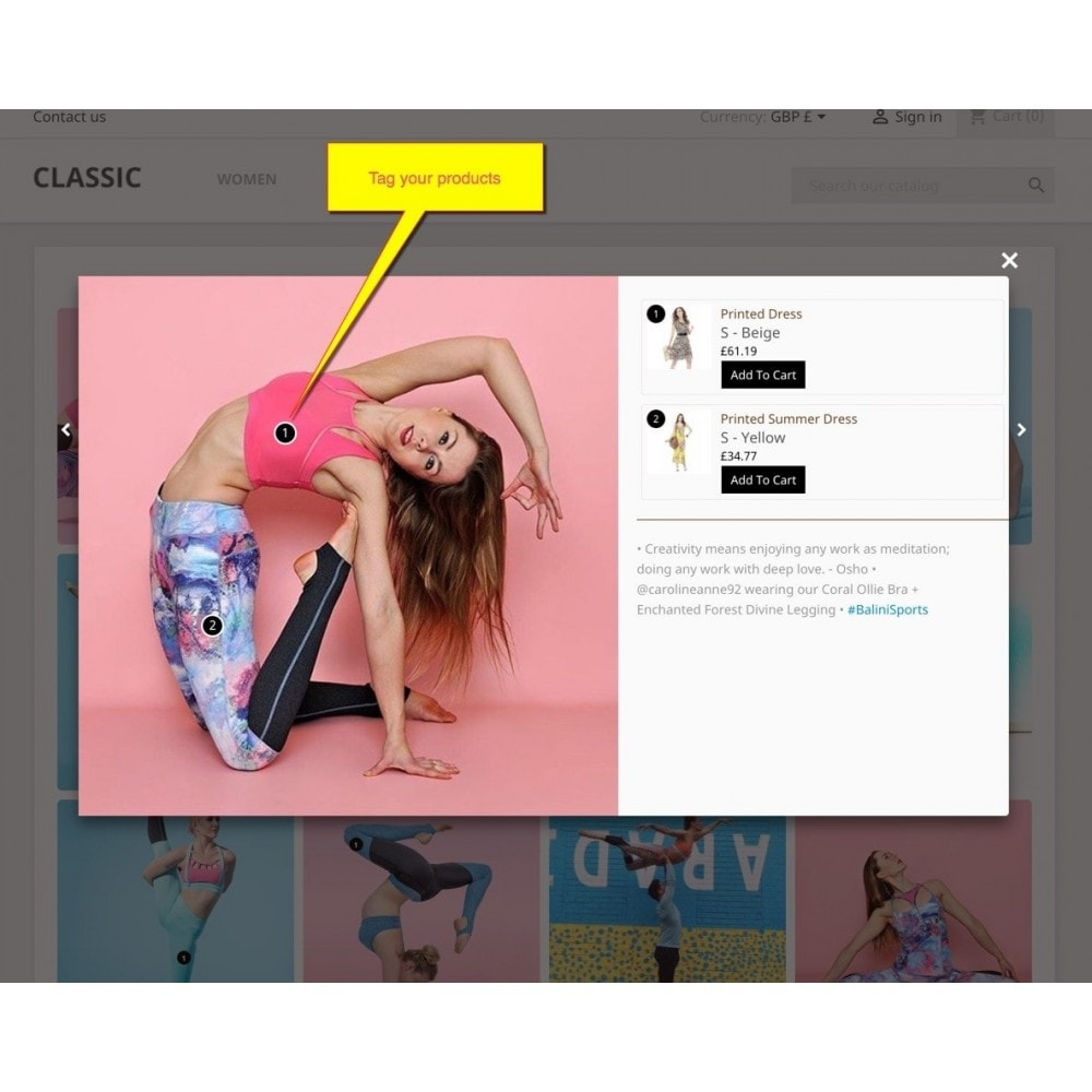 module - Слайдеров (карусельных) и галерей - Shoppable Gallery - Social Slider - 5