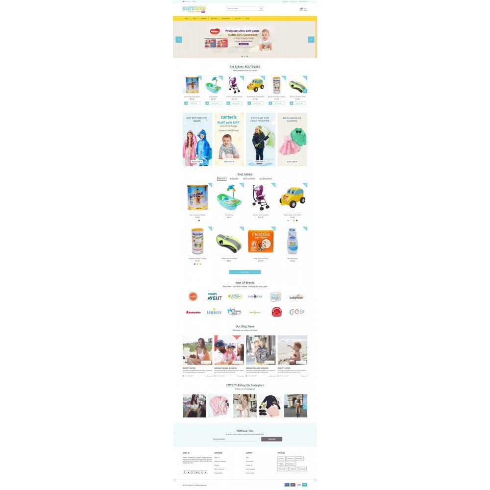 Kids & Toys - smart responsive Store