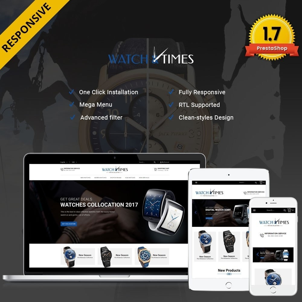 theme - Jewelry & Accessories - Watch & Times Store - 1