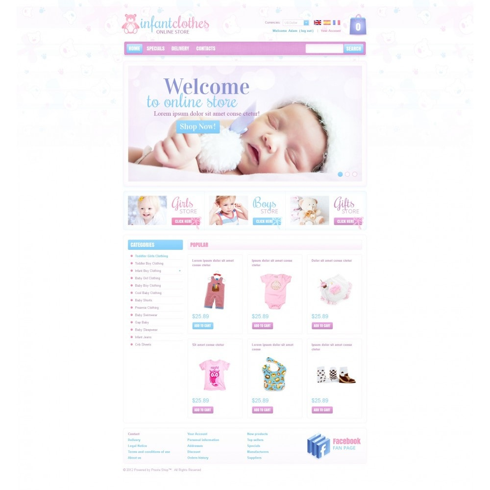 theme - Home & Garden - Infant Clothes - 3