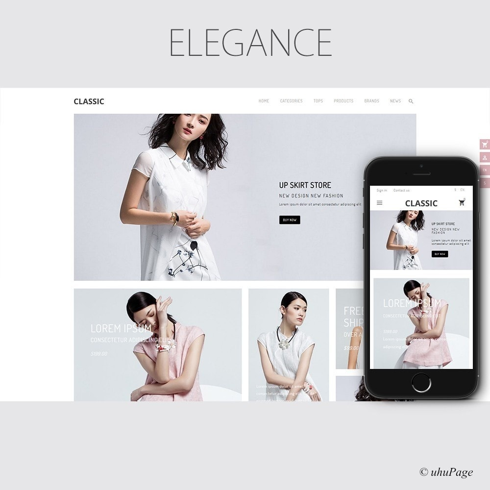 theme - Мода и обувь - UP Fashion and Elegance Store - 1