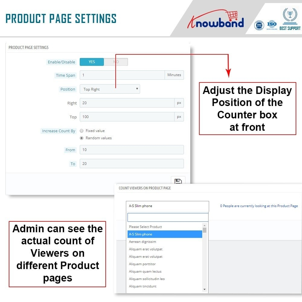 module - Altre informazioni & Product Tab - Knowband - Page Viewers Counter - 6