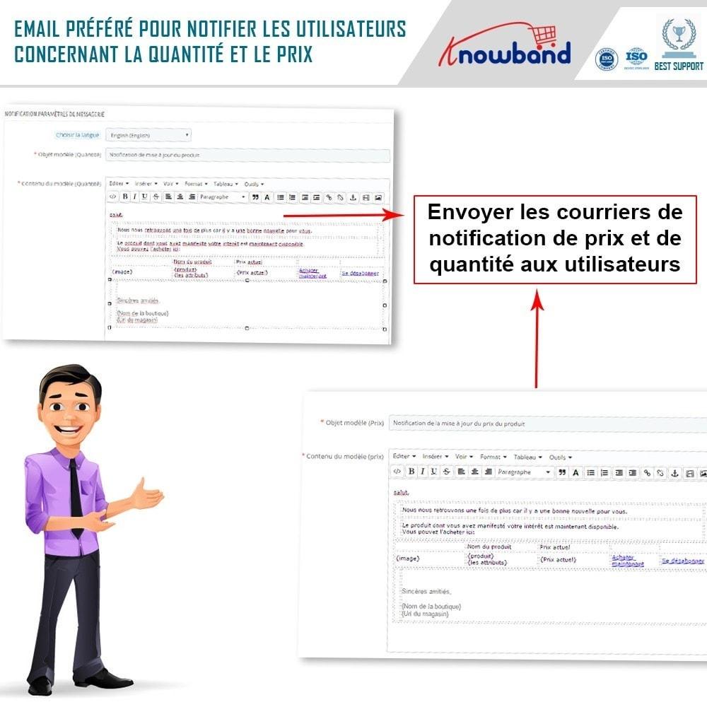 module - E-mails & Notifications - Knowband - Notification de Mise à Jour des Produits - 5