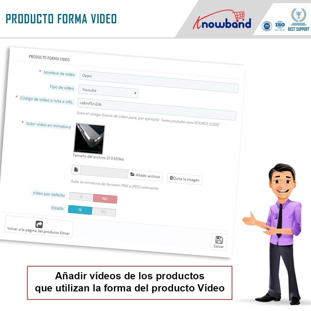 module - Vídeos y Música - Knowband - Video del Producto - 8
