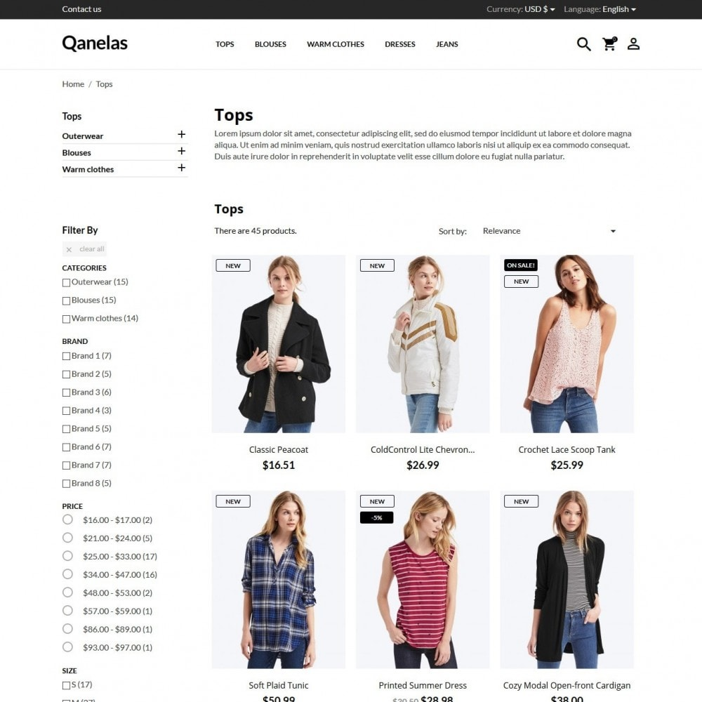 theme - Мода и обувь - Qanelas Fashion Store - 6