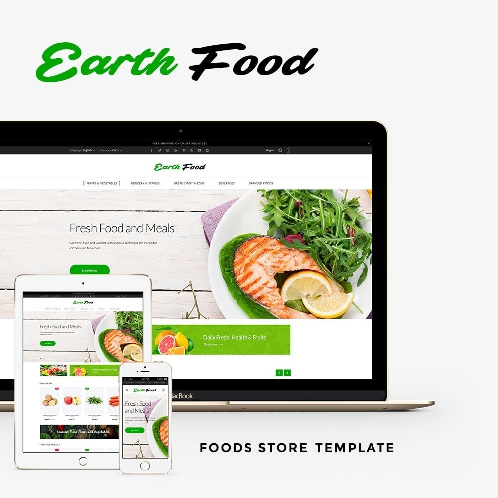 theme - Alimentos & Restaurantes - Earth Food - 1
