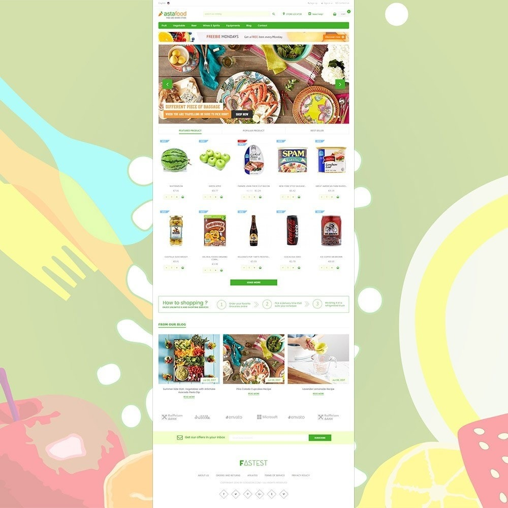 theme - Продовольствие и рестораны - Grocery, Gourmet, Meat, Beverages, Food, Drinks Store - 2