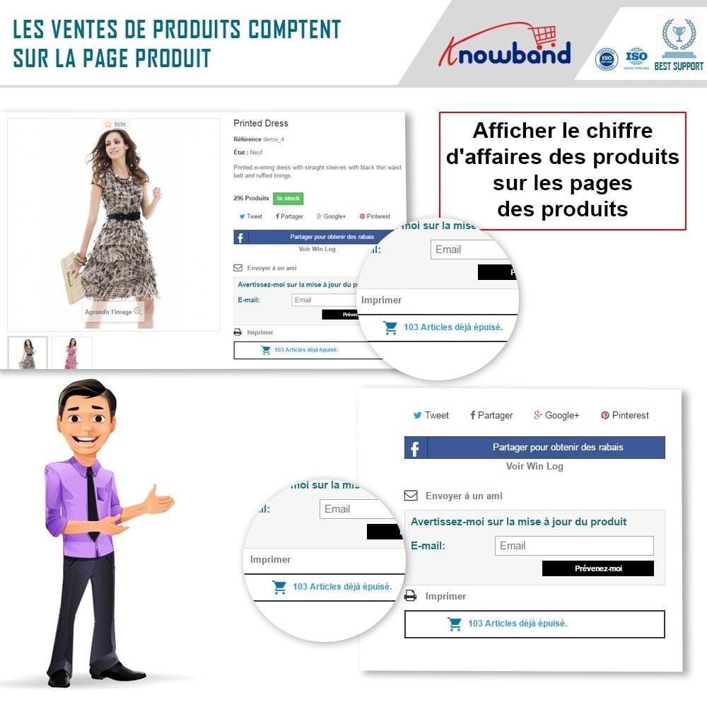 module - Information supplémentaire & Onglet produit - Knowband - Compteur des Ventes de Produits - 3