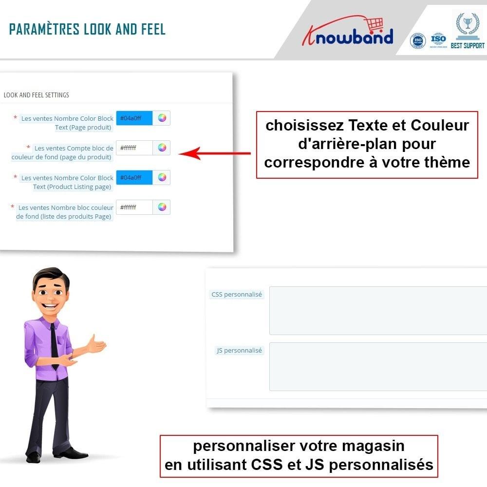 module - Information supplémentaire & Onglet produit - Knowband - Compteur des Ventes de Produits - 6