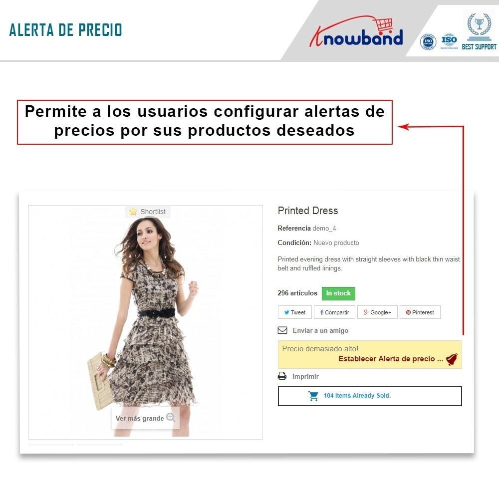 module - Gestión de Precios - Knowband - Alerta de precio - Notificar a los clientes - 2