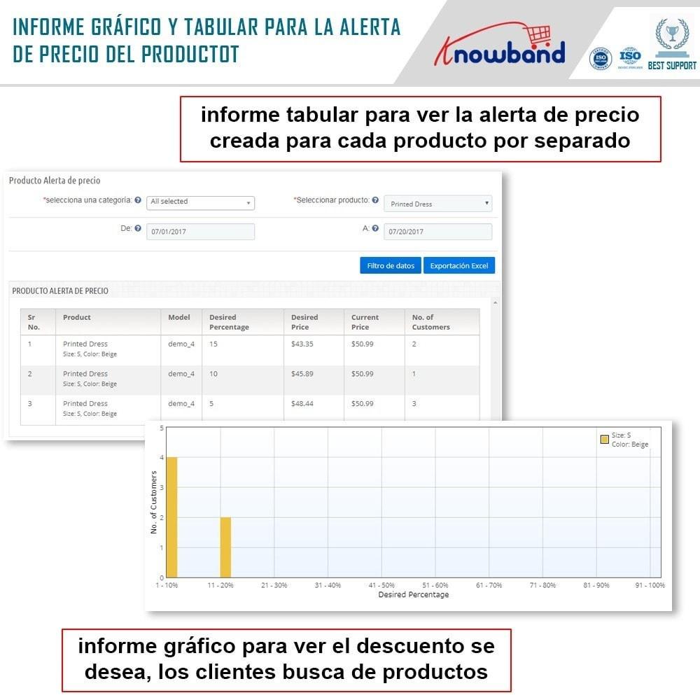 module - Gestión de Precios - Knowband - Alerta de precio - Notificar a los clientes - 6