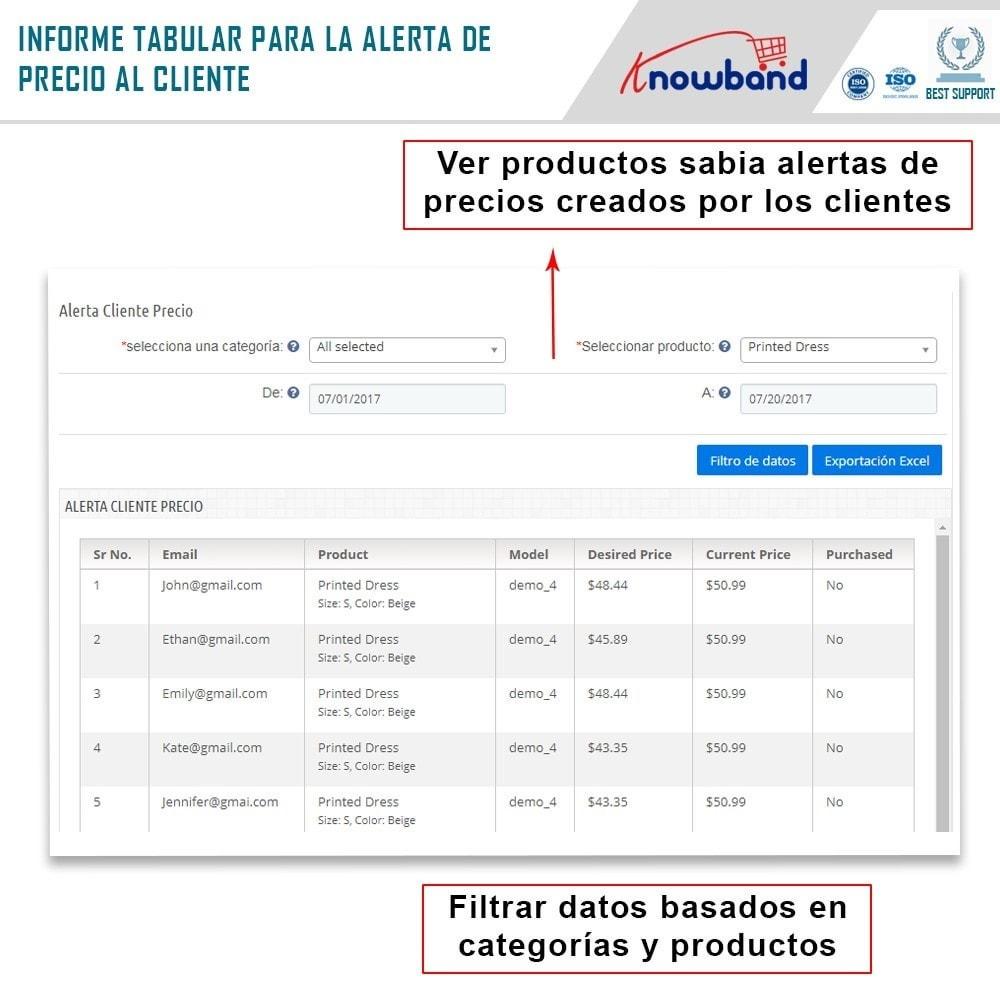 module - Gestión de Precios - Knowband - Alerta de precio - Notificar a los clientes - 7