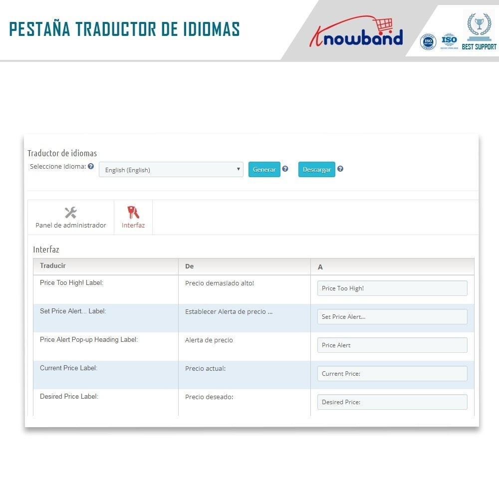 module - Gestión de Precios - Knowband - Alerta de precio - Notificar a los clientes - 8