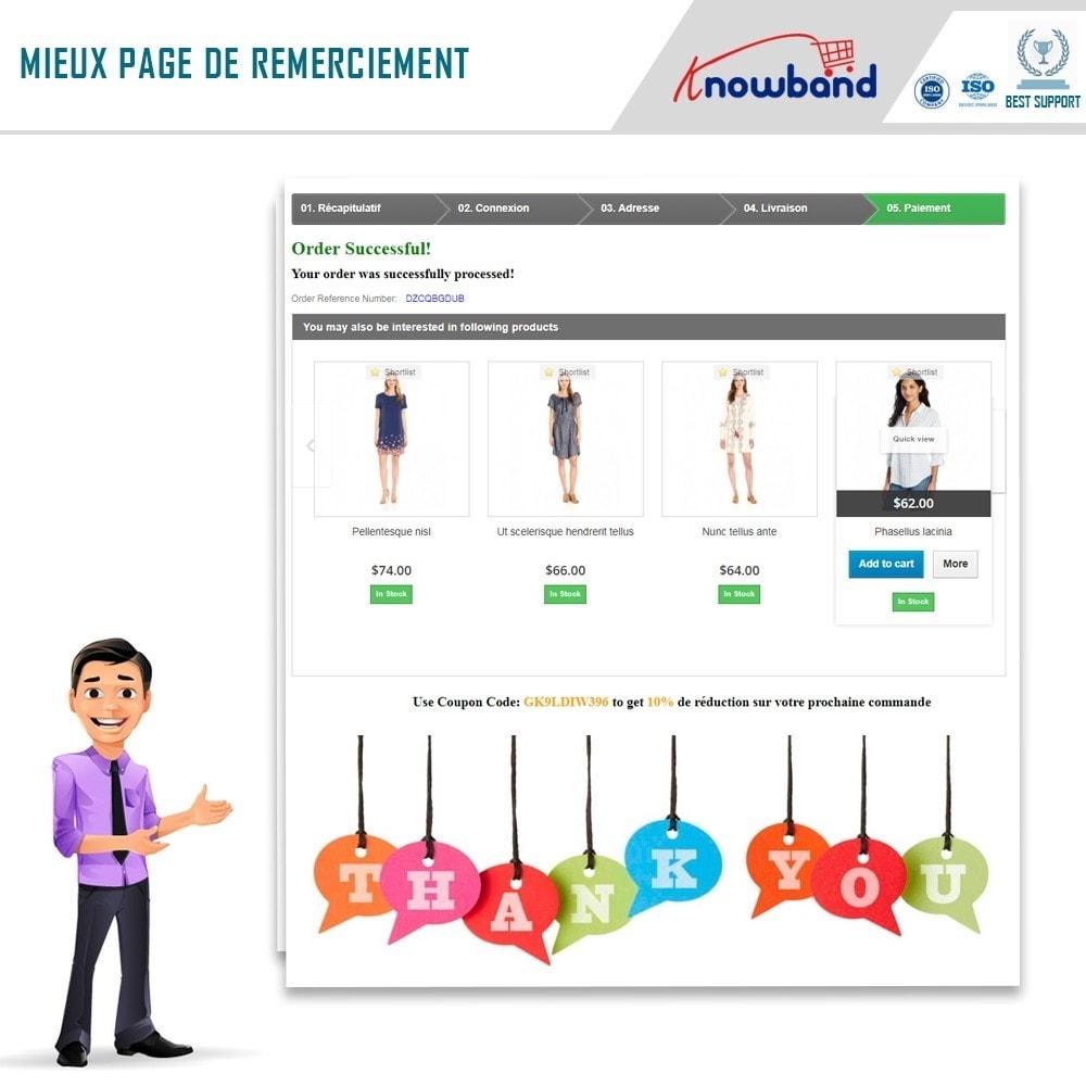 module - Inscription & Processus de commande - Knowband - Une Meilleure Page de Remerciement - 2
