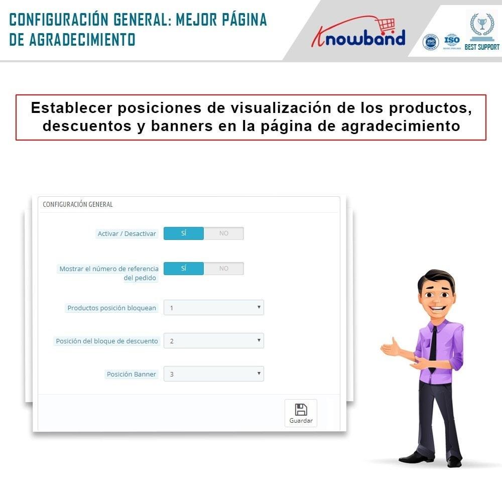 module - Inscripción y Proceso del pedido - Knowband - Página de Agradecimiento - 3