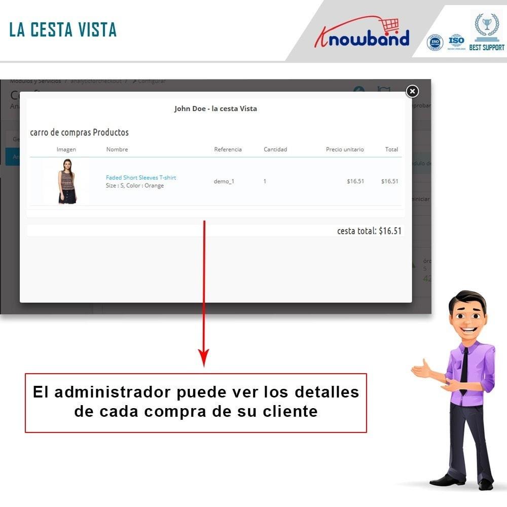 module - Informes y Estadísticas - Knowband - Analítica de la página de pago - 4