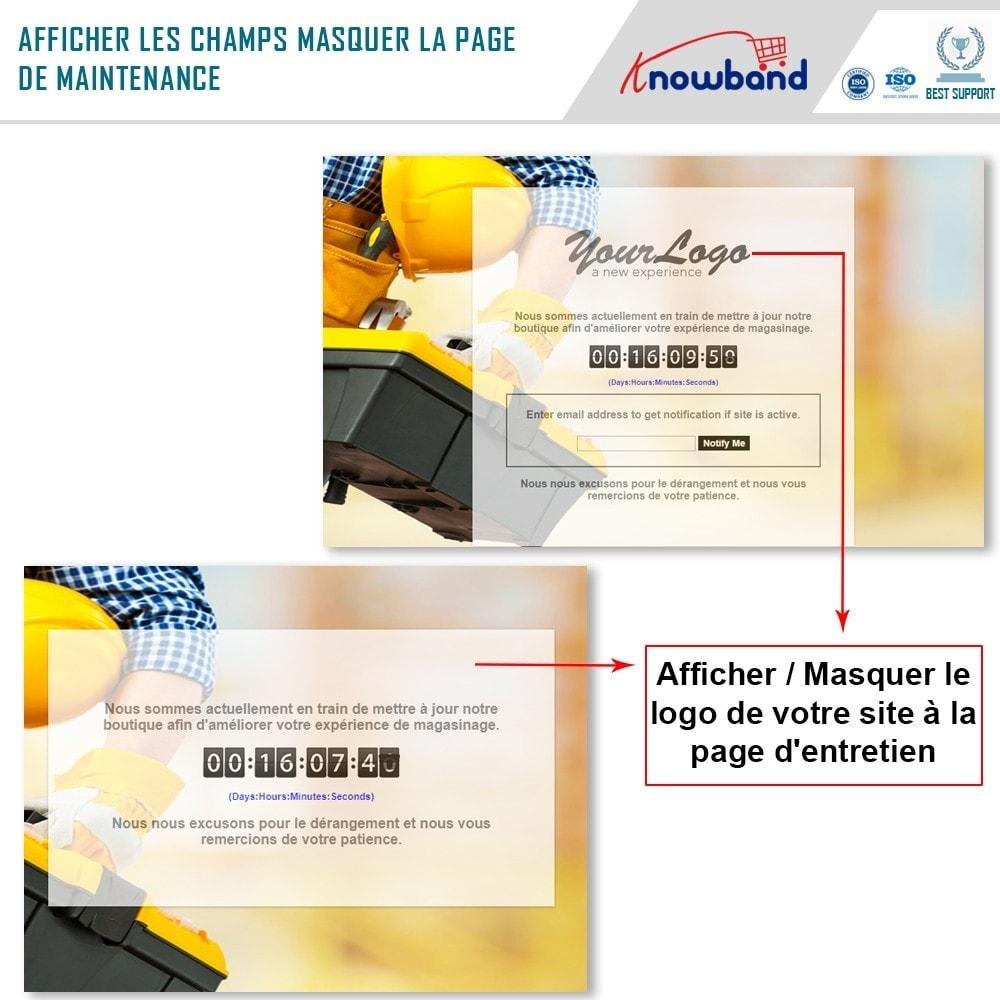 module - Personnalisation de Page - Knowband - Personnalisation de la  Page de Maintenance - 3