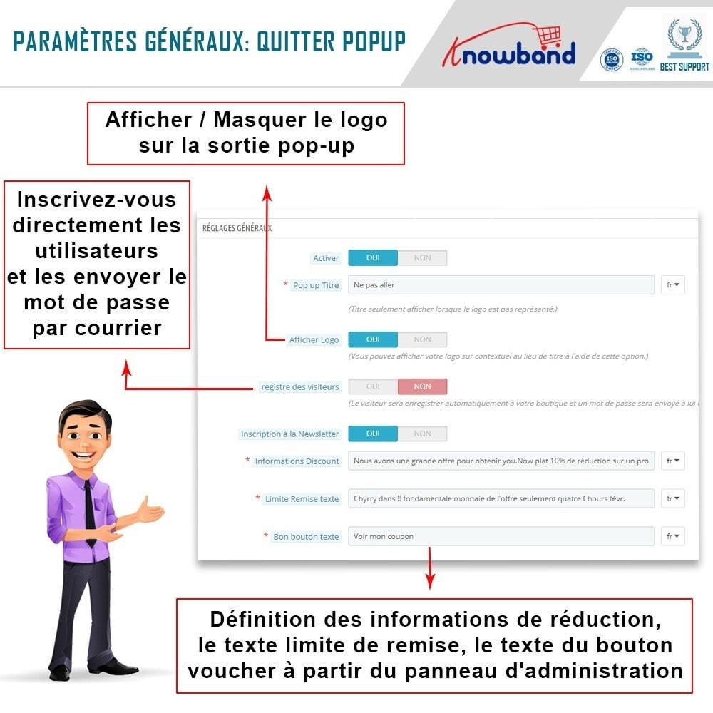 module - Remarketing & Paniers Abandonnés - Knowband - Pop-Up de Fermeture - 3