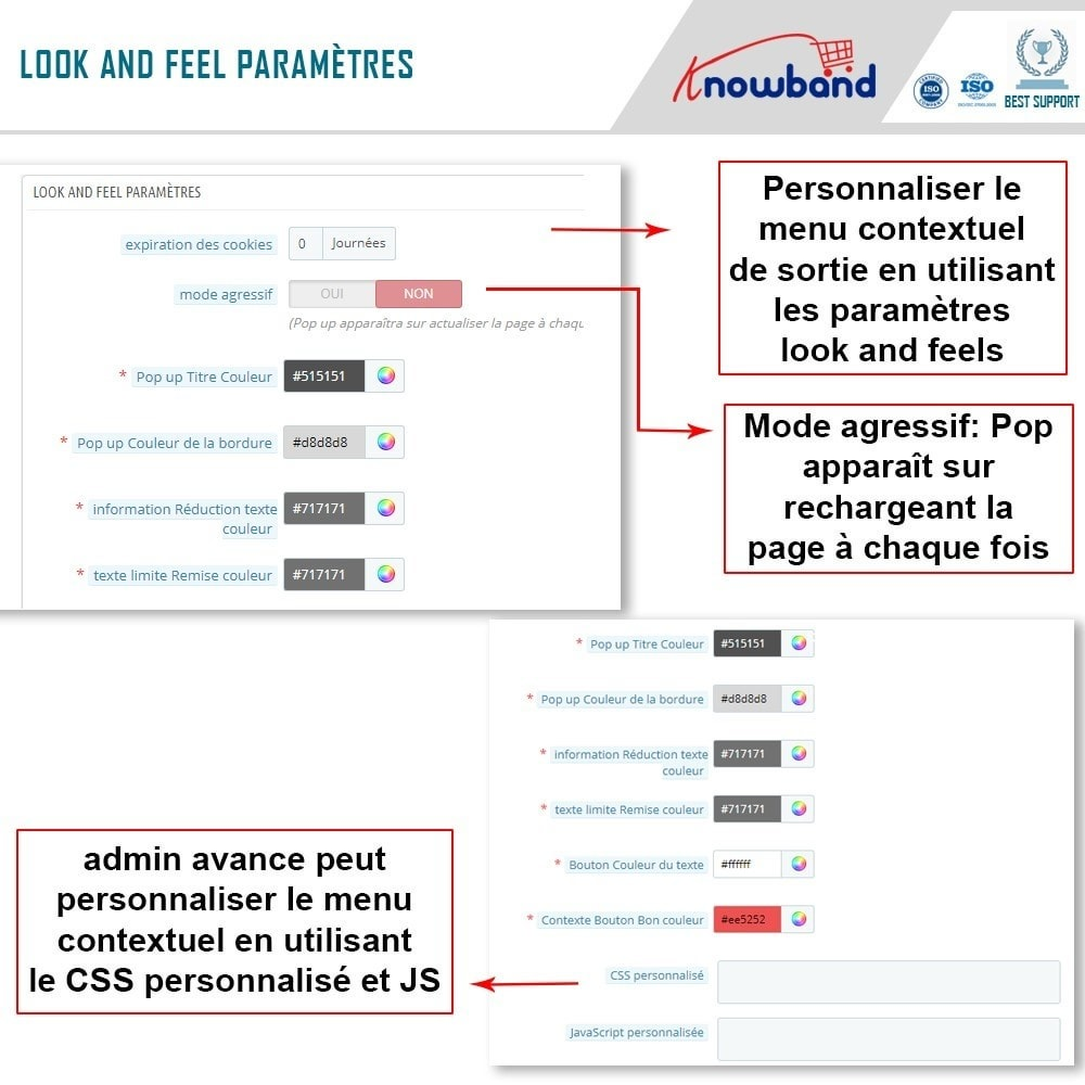 module - Remarketing & Paniers Abandonnés - Knowband - Pop-Up de Fermeture - 4