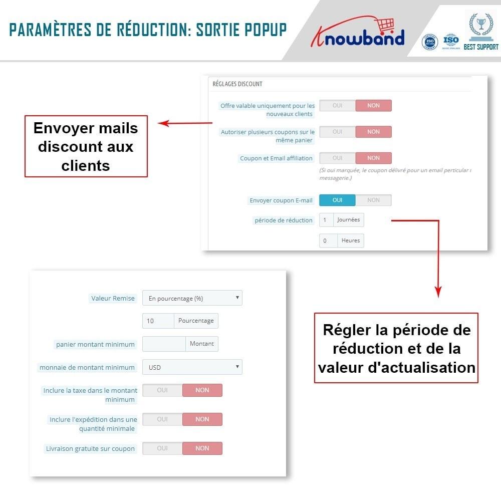 module - Remarketing & Paniers Abandonnés - Knowband - Pop-Up de Fermeture - 5
