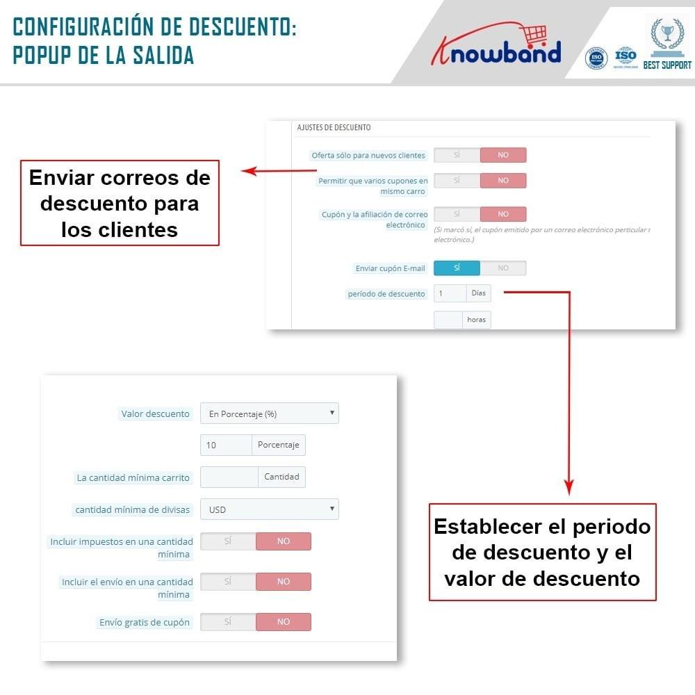 module - Remarketing y Carritos abandonados - Knowband - Módulo de Salida Emergente - 5