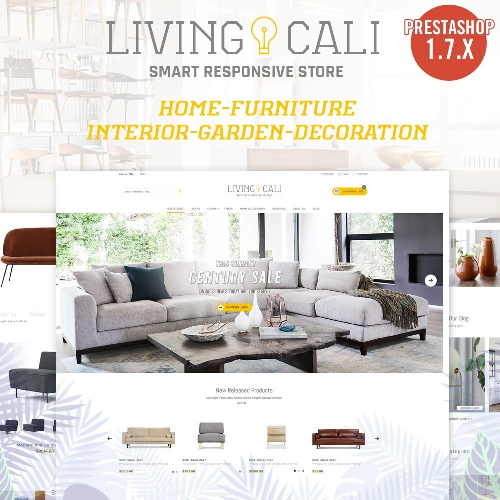 theme - Casa & Jardins - Furniture & Interior & Garden- smart responsive store - 1