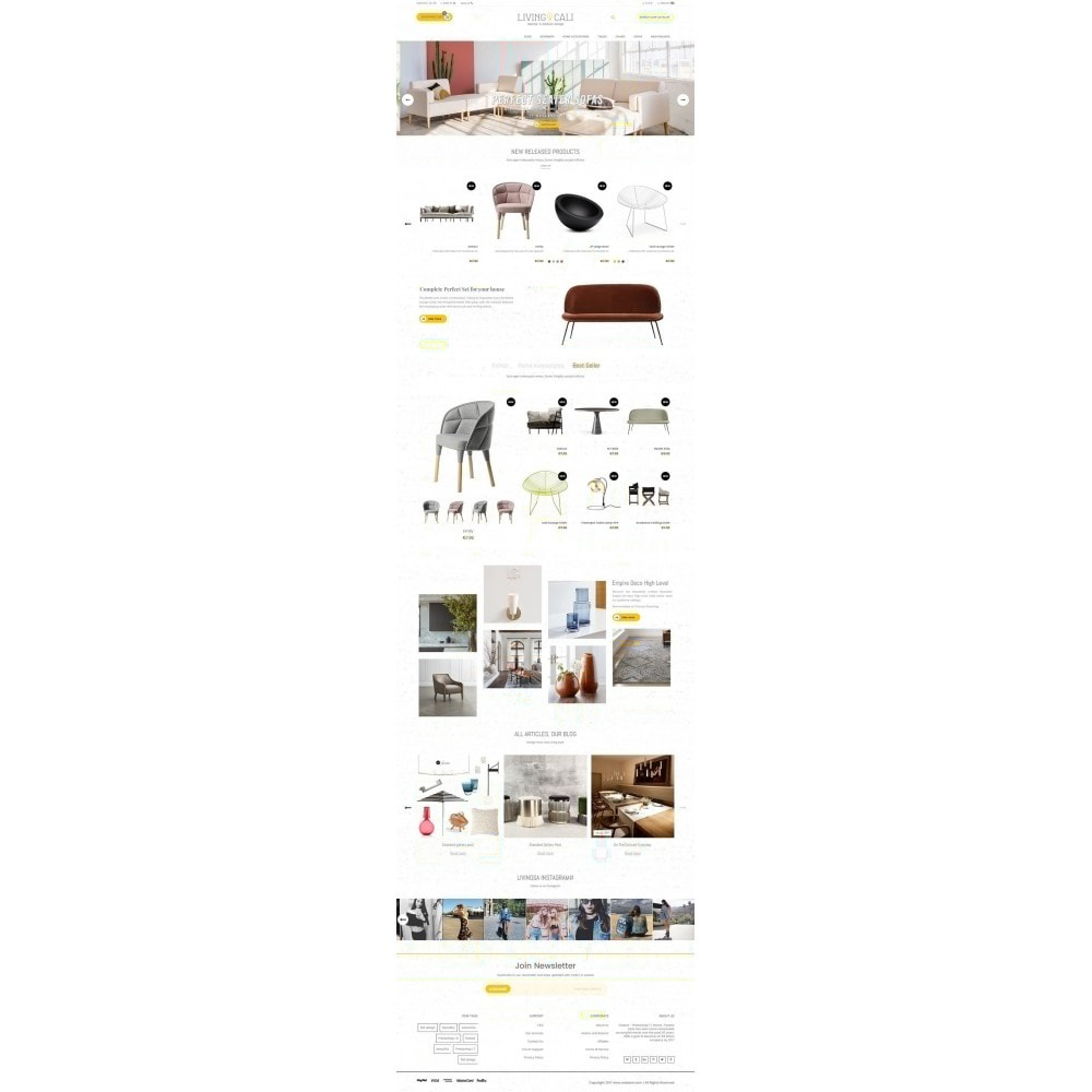 Furniture & Interior & Garden- smart responsive store