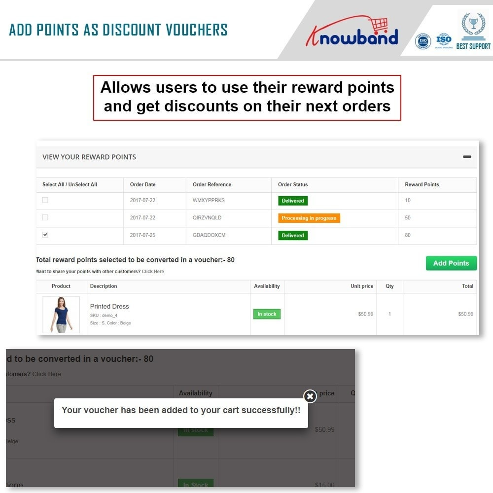 module - Referral & Loyalty Programs - Knowband - Reward points - 4