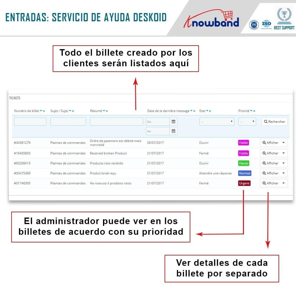 module - Servicio posventa - Knowband - Servicio de asistencia Deskoid - 4