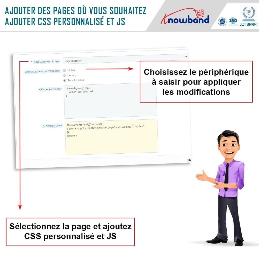 module - Personnalisation de Page - Knowband - Codes CSS et JS personnalisés - 6