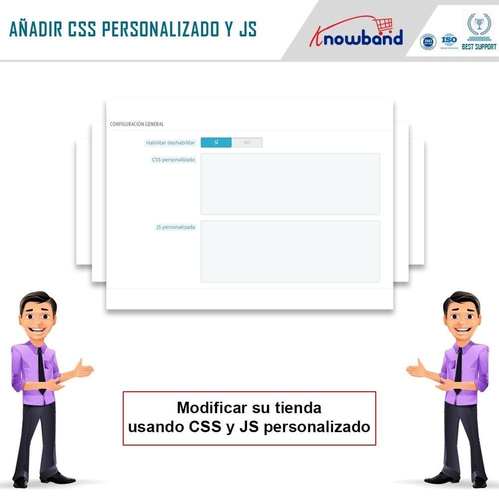 module - Personalización de la página - Knowband - CSS y JS personalizados - 4