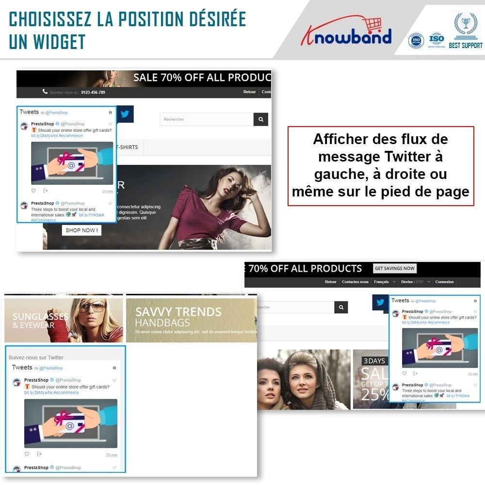 module - Widgets réseaux sociaux - Knowband - Flux de Posts Twitter - 2