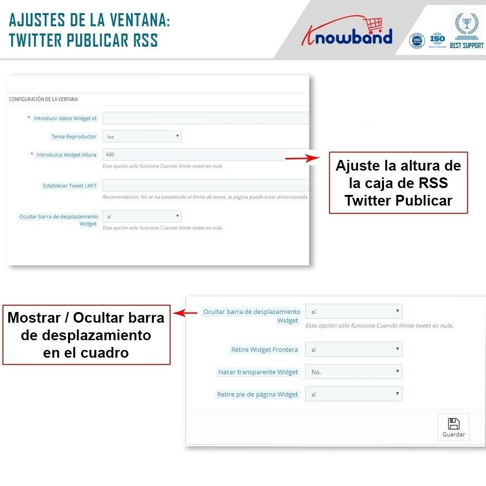module - Widgets para redes sociales - Knowband - Publicaciones de Twitter - 5